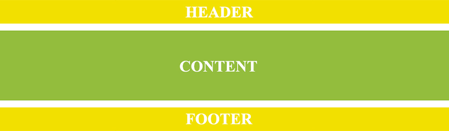 Header footer stretch
